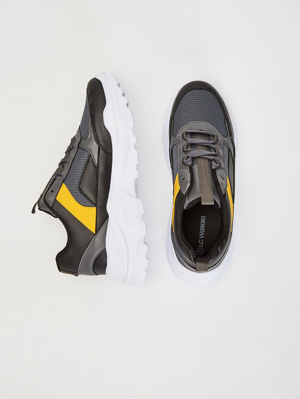 Tekstil malzemeleri Diğer malzeme (pvc) Sneaker Hafif Penye Astar Standart Bağcık EVA Günlük Renk Bloğu Erkek Renk Bloklu Spor Ayakkabı