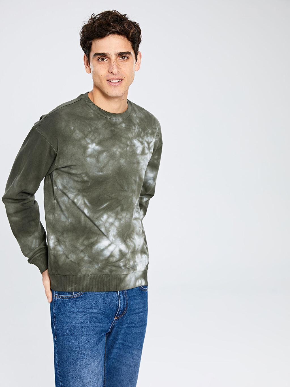 Haki Batik Desenli Sweatshirt 9WS902Z8 LC Waikiki