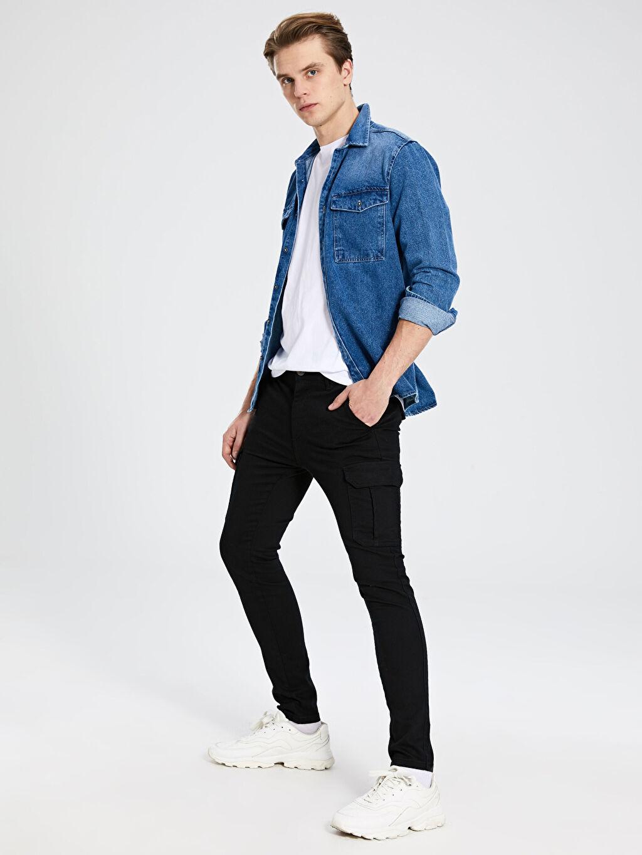 Erkek Ekstra Slim Fit Gabardin Pantolon