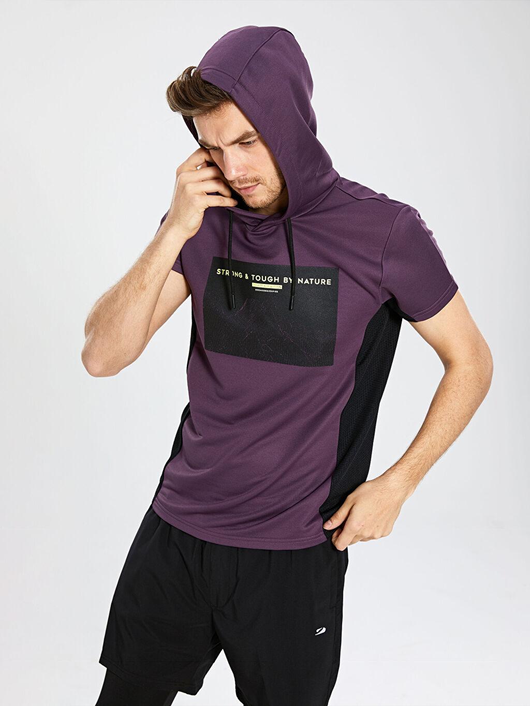 %100 Polyester Standart İnce Sweatshirt Kumaşı Sweatshirt Standart Kapüşon Yaka Kapüşonlu Aktif Spor Sweatshirt