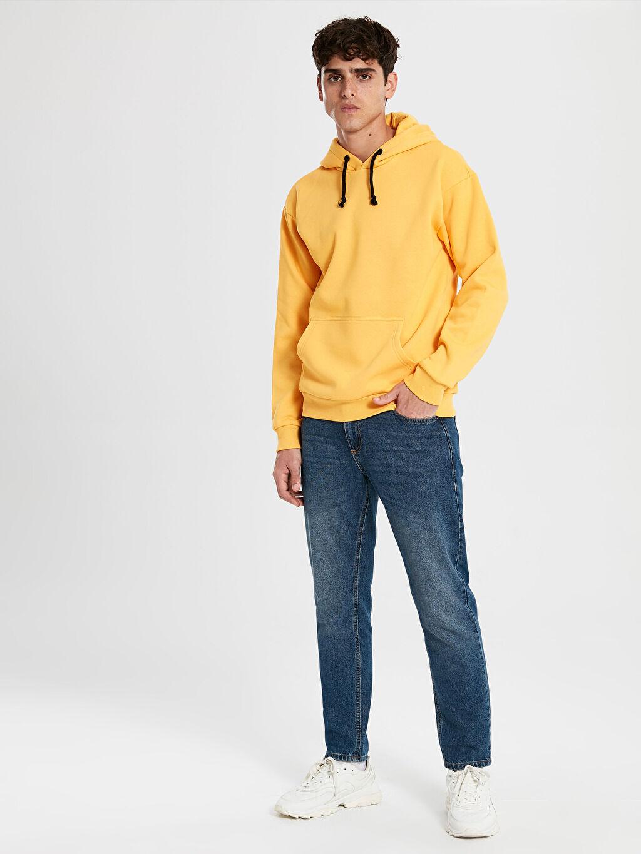 LC Waikiki Turuncu Kapüşonlu Basic Kalın Sweatshirt
