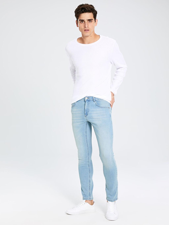%98 Pamuk %2 Elastan Normal Bel Astarsız Dar Beş Cep Jean 750 Slim Fit Jean Pantolon