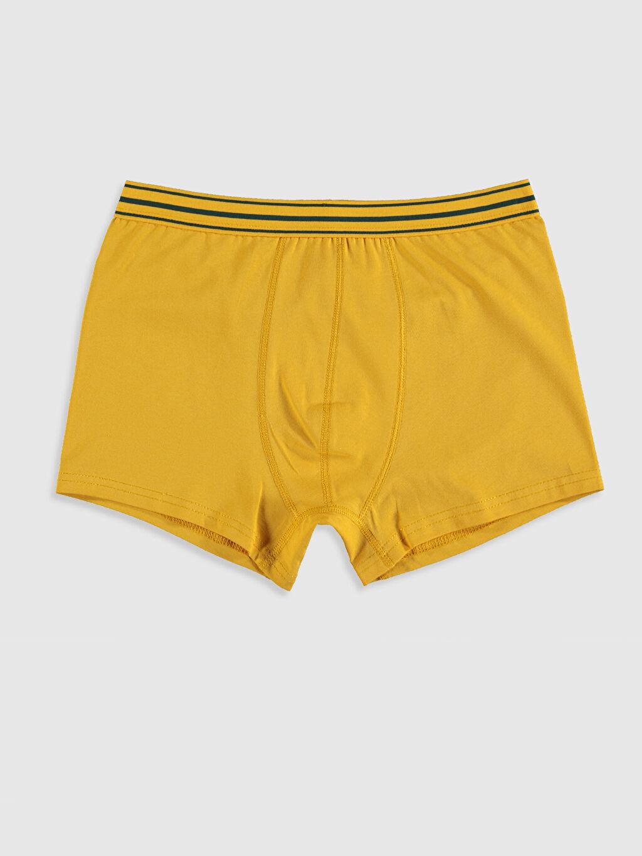 Sarı Esnek Kumaş Standart Kalıp Boxer 9WY295Z8 LC Waikiki
