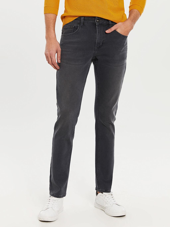%64 Pamuk %23 Poliester %11 Vıscose %2 Elastane 750 Slim Fit Jean Pantolon