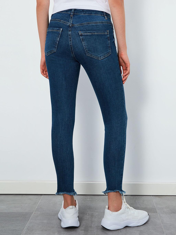 %85 Pamuk %13 Polyester %2 Elastan Bilek Boy Skinny Jean Pantolon