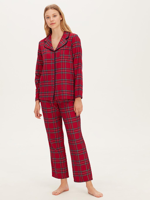 Kırmızı Ekose Pijama Takımı 9W2088Z8 LC Waikiki