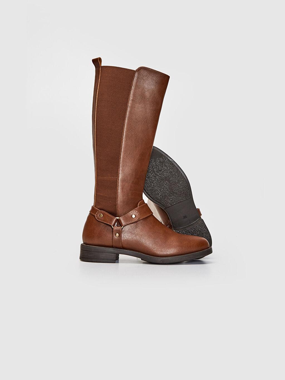 Tekstil malzemeleri Diğer malzeme (poliüretan) Tekstil malzemeleri Diğer malzeme (poliüretan) Yuvarlak Burun Uzun Çizme Düz 4 cm Kadın Toka Detaylı Uzun Çizme