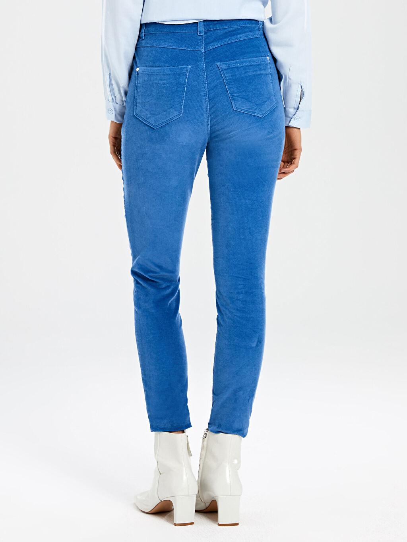Kadın Kadife Skinny Pantolon