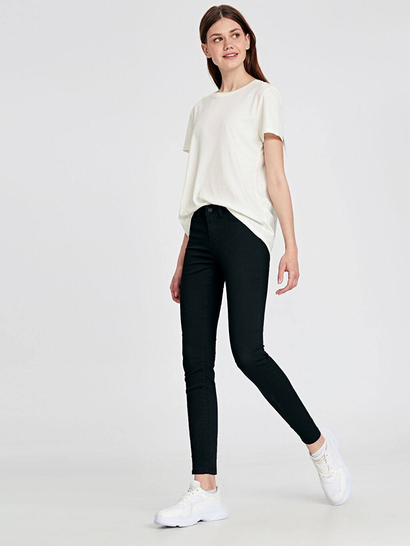 Siyah Super Skinny Jean Pantolon 9W5345Z8 LC Waikiki