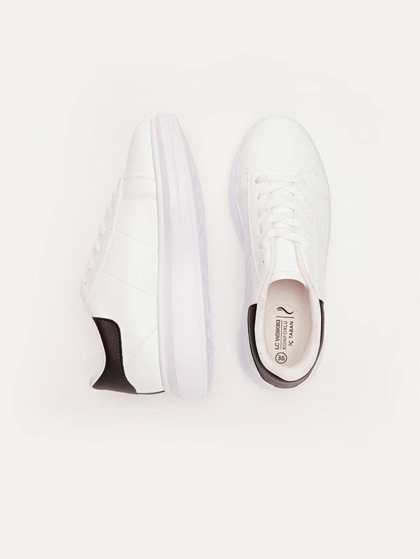 Diğer malzeme (poliüretan) Tekstil malzemeleri Kısa Yuvarlak Burun 1 cm Düz Sneaker Kadın Kadın Taban Günlük Spor Ayakkabı