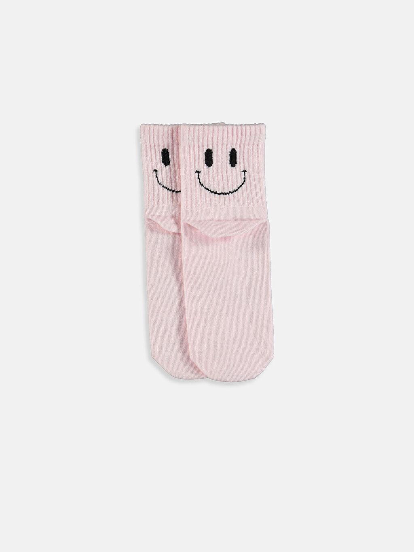 LC Waikiki Beyaz Desenli Soket Çorap 3'lü