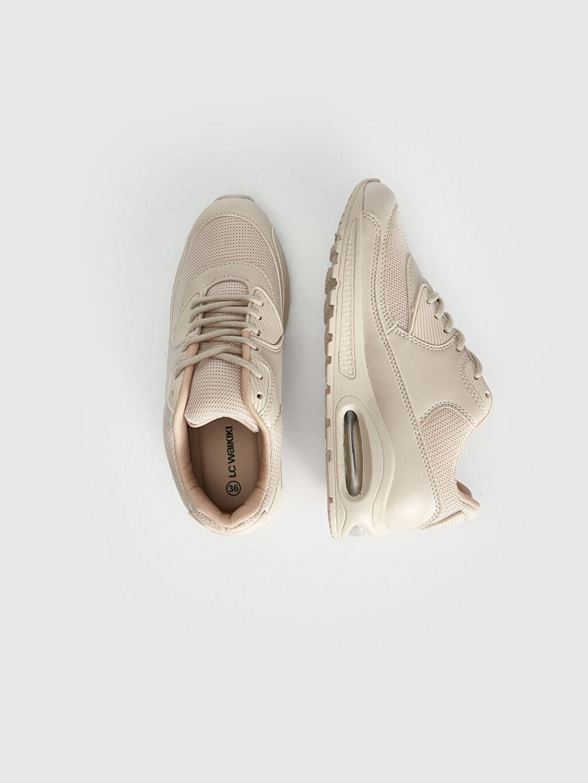 Tekstil malzemeleri Diğer malzeme (poliüretan) Tekstil malzemeleri Konforlu İç Taban Düz Standart 5 cm Sneaker Oval Burun Bağcık Kadın Kalın Tabanlı Spor Ayakkabı