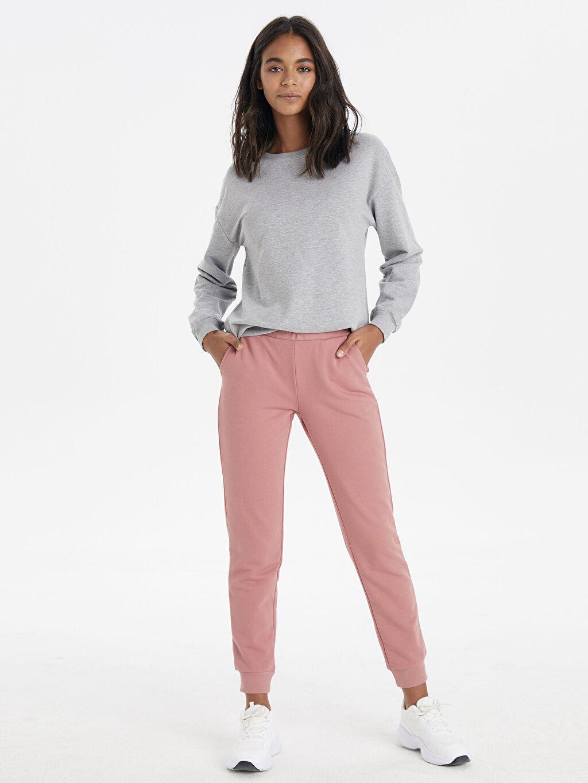 %43 Pamuk %57 Polyester Standart Uzun Casual Kalın Sweatshirt Kumaşı Eşofman Altı Jogger Eşofman Altı