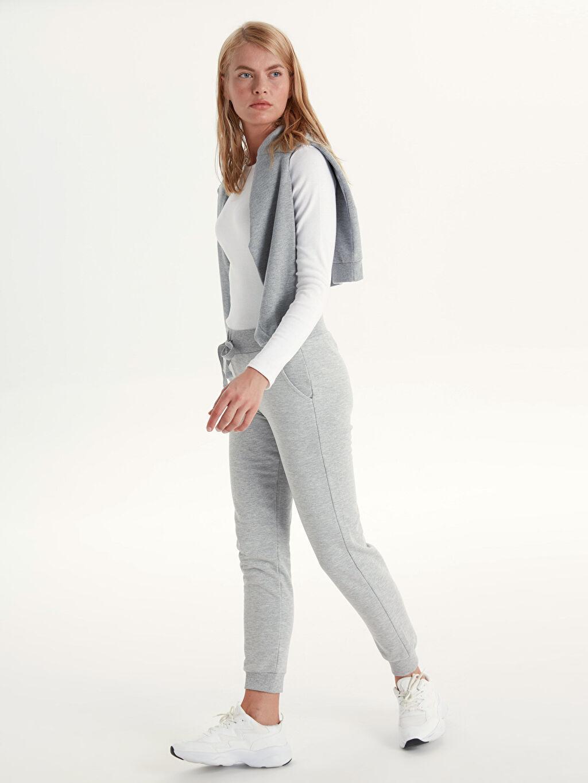 %38 Pamuk %62 Polyester Standart Uzun Günlük Kalın Sweatshirt Kumaşı Eşofman Altı Jogger Eşofman Altı