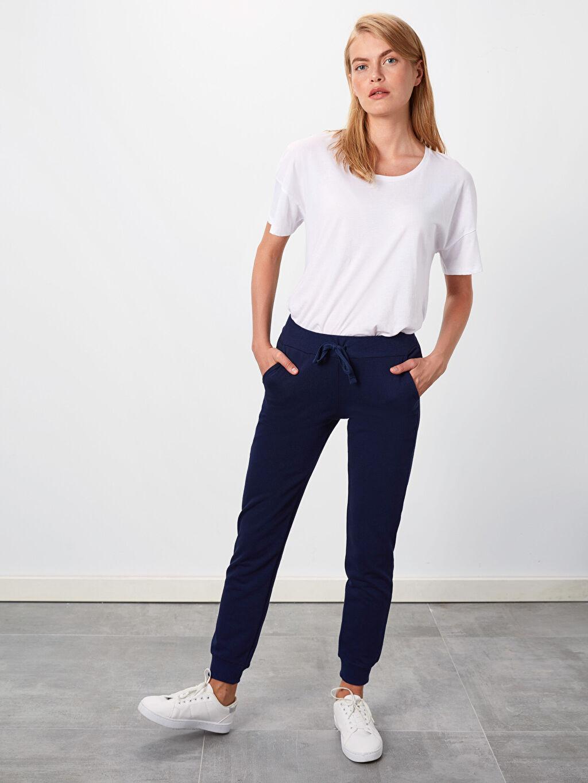 %43 Pamuk %57 Polyester Standart Uzun Günlük Kalın Sweatshirt Kumaşı Eşofman Altı Jogger Eşofman Altı
