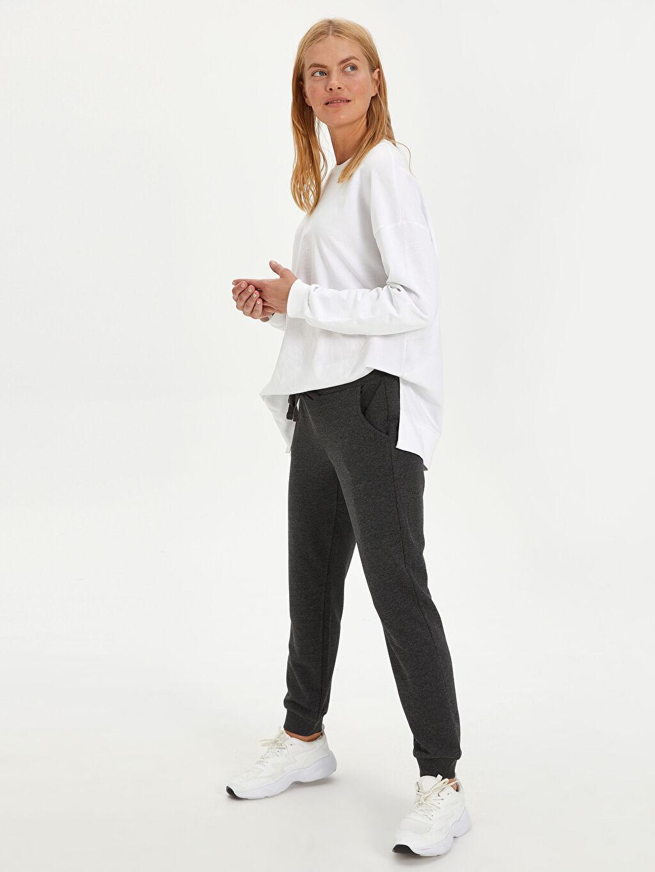 %26 Pamuk %74 Polyester Standart Uzun Günlük Kalın Sweatshirt Kumaşı Eşofman Altı Jogger Eşofman Altı