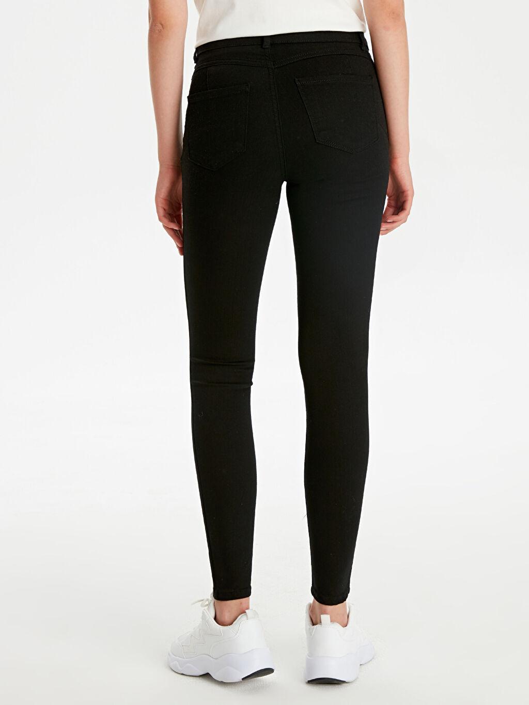 %84 Pamuk %14 Polyester %2 Elastan Normal Bel Dar Jean Standart Skinny Jean Pantolon