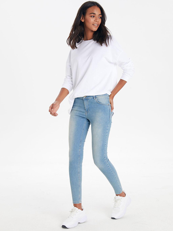 İndigo Pamuklu Push Up Skinny Jean Pantolon 9WG712Z8 LC Waikiki