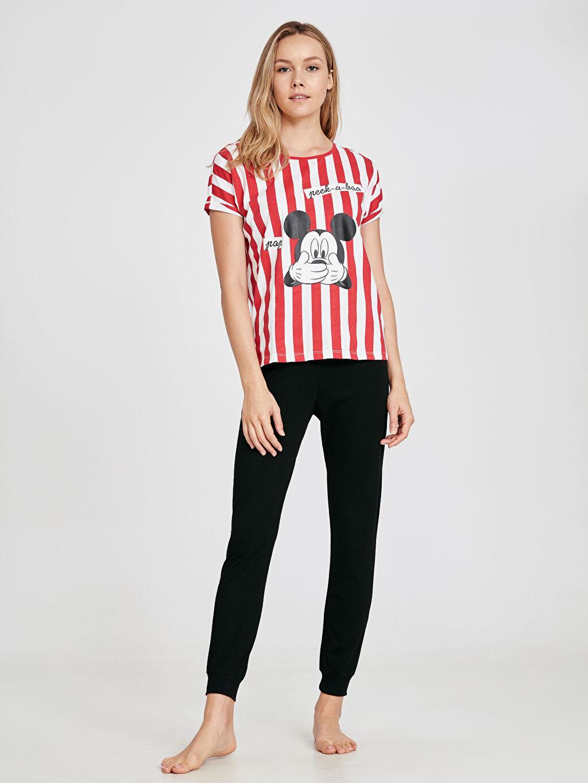 %100 Pamuk %100 Pamuk Mickey Mouse Süprem Standart Pijama Takım Mickey Mouse Baskılı Pamuklu Pijama Takımı