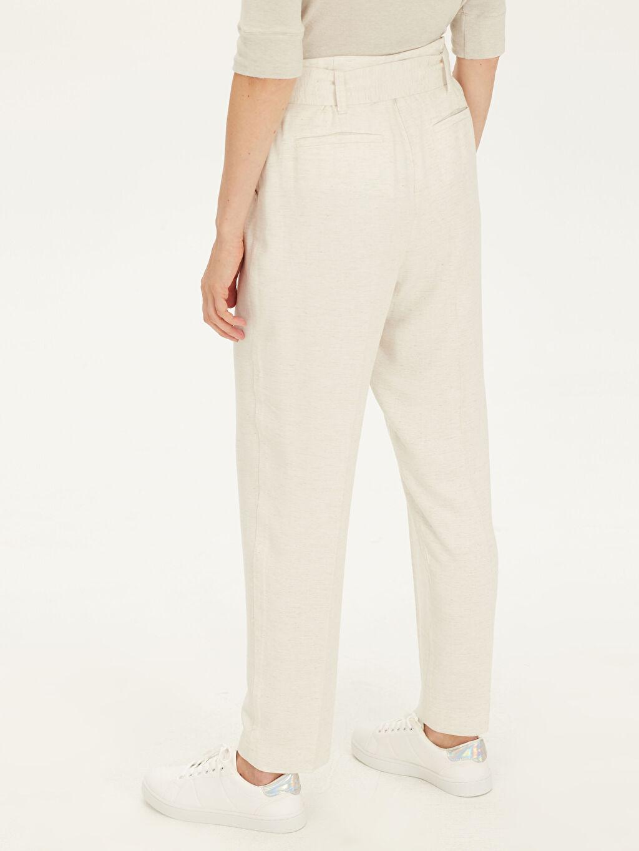 Kadın Kemerli Oxford Pantolon