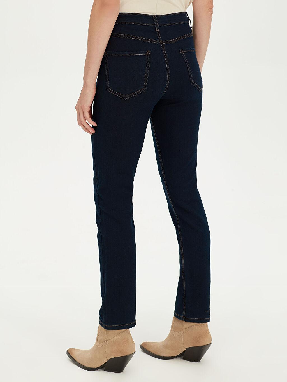 %98 Pamuk %2 Elastan Yüksek Bel Skinny Jean Pantolon
