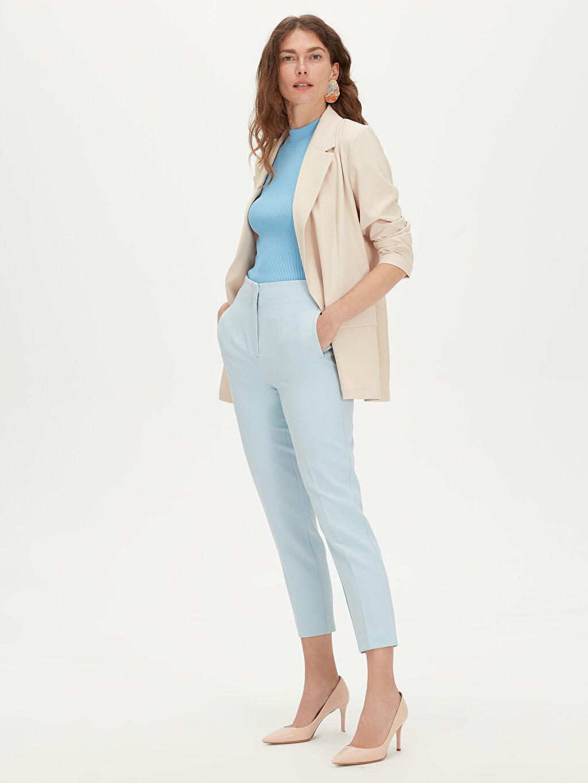 Kadın Yüksek Bel Esnek Pantolon