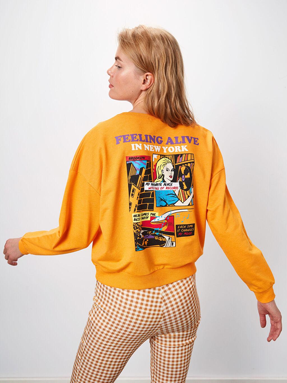 Kadın Baskılı Salaş Sweatshirt