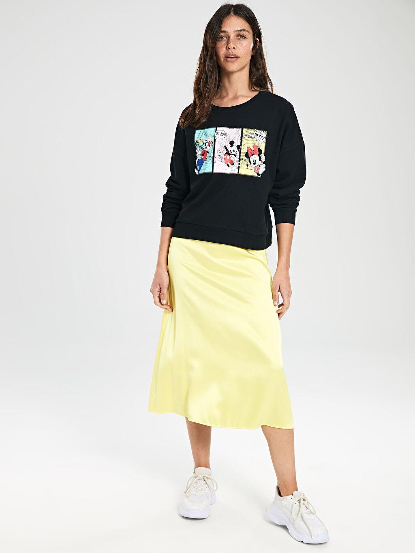 Kadın Mickey Mouse Baskılı Sweatshirt