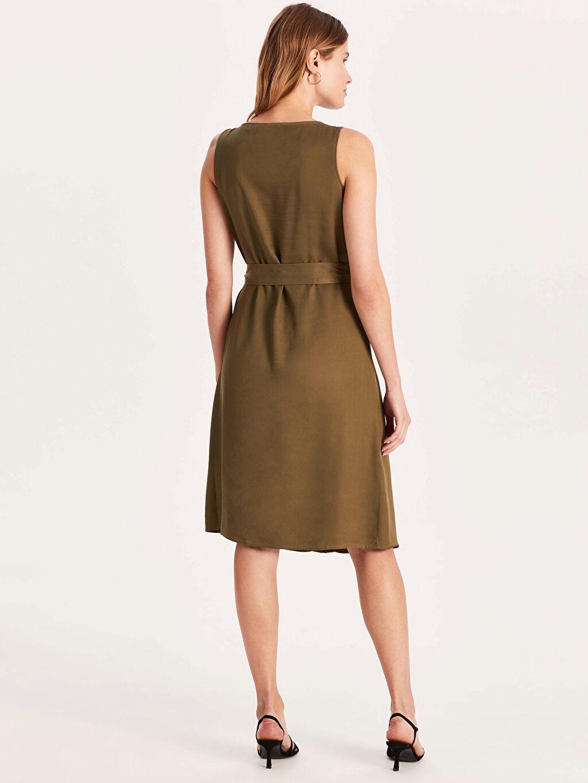 Kadın Kısa Kollu Viskon Elbise