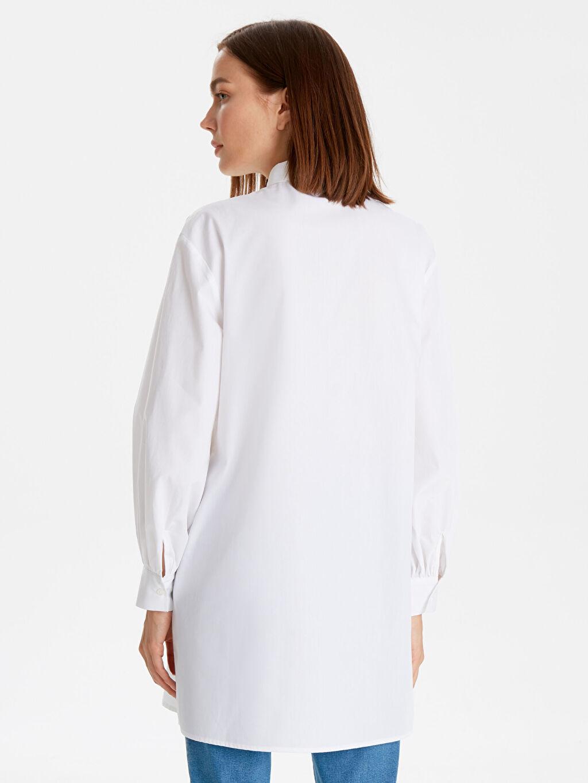 Kadın Gömlek Yaka Pamuklu Düz Tunik