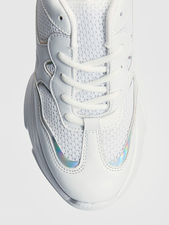 LC Waikiki Beyaz Kadın Hologramlı Günlük Spor Ayakkabı