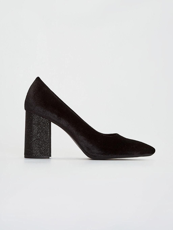 Siyah Kadın Sivri Burun Topuklu Ayakkabı 9WN656Z8 LC Waikiki