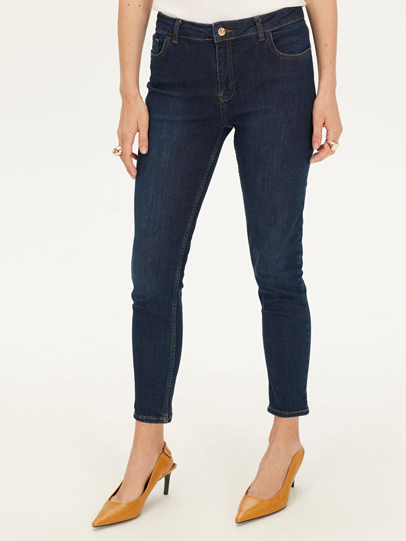 Kadın Pamuklu Dar Jean Pantolon