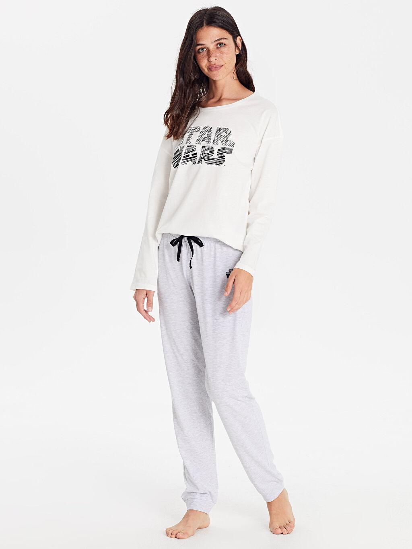 Gri Star Wars Baskılı Pijama Takımı 9WO676Z8 LC Waikiki