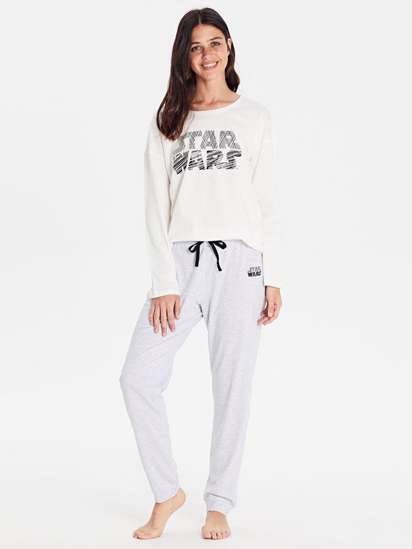 %51 Pamuk %49 Polyester %100 Pamuk Süprem Standart Pijama Takım Düz Star Wars Baskılı Pijama Takımı