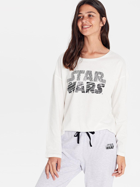 Kadın Star Wars Baskılı Pijama Takımı