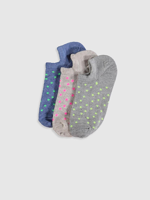 Bej Desenli Sneaker Çorap 3'Lü 9WO807Z8 LC Waikiki