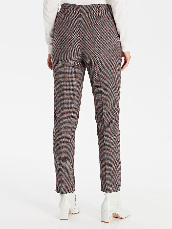 Kadın Desenli Bilek Boy Düz Paça Kumaş Pantolon