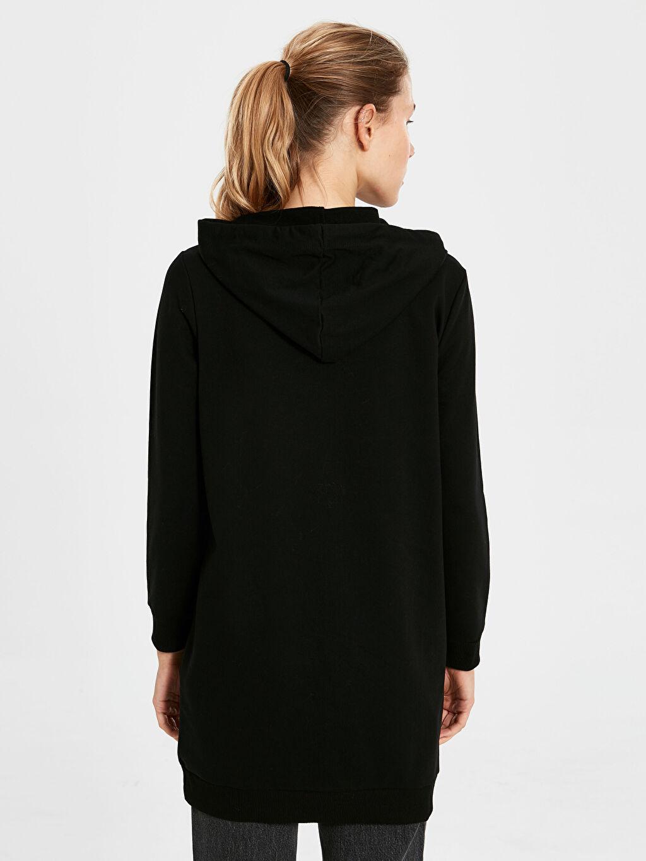 %50 Pamuk %50 Polyester Kapüşonlu Düz Sweatshirt