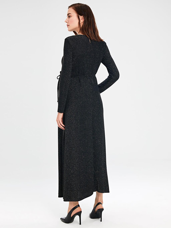 Kadın Işıltılı Uzun Abiye Hamile Elbisesi