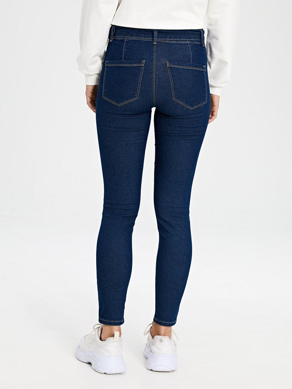 Kadın Kemerli Super Skinny Jean Pantolon