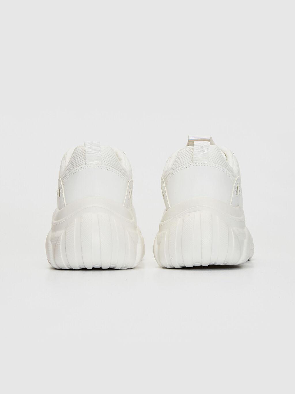 Kadın Kalın Taban Hologram Detay Spor Ayakkabı