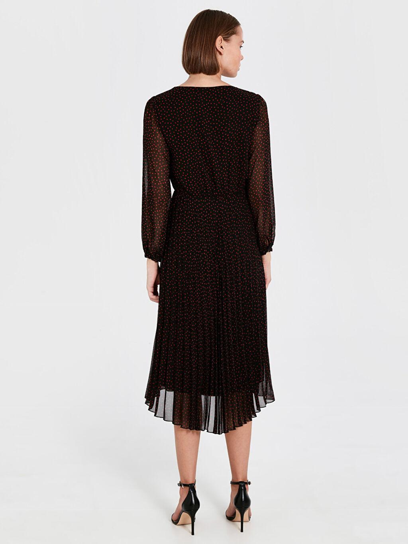 Kadın Desenli Şifon Elbise