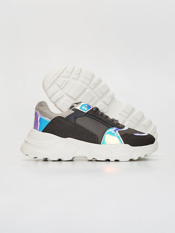 Kadın Kadın Kalın Taban Hologram Detay Spor Ayakkabı