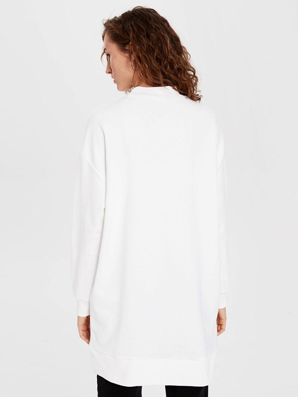 %68 Pamuk %32 Polyester Baskılı Spor Sweatshirt