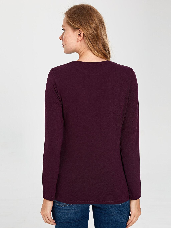 %59 Polyester %38 Viskoz %3 Elastan İşleme Detaylı Tişört