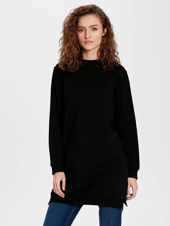 Siyah Düz Basic Sweatshirt 9WA310Z8 LC Waikiki
