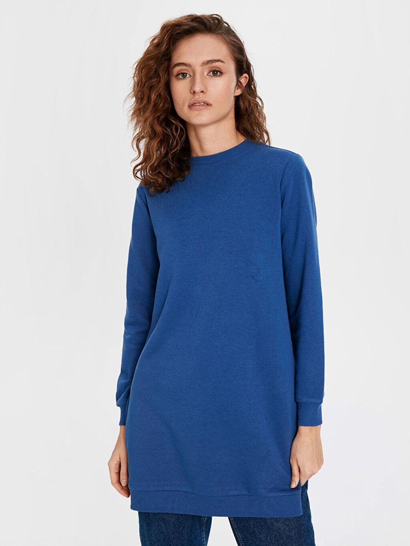 Mavi Düz Basic Sweatshirt 9WA310Z8 LC Waikiki