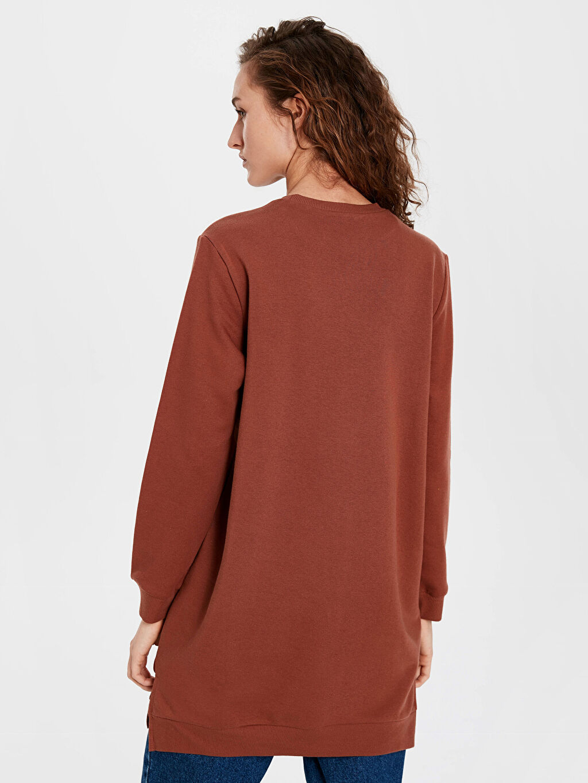 Kadın Düz Basic Sweatshirt