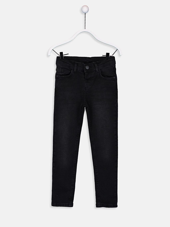 Siyah Erkek Çocuk Slim Jean Pantolon 9W0858Z4 LC Waikiki